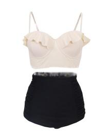 Sexy White High-waist Design Split Bikini