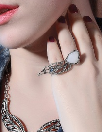 Fashion Silver Color Wing Shape Decorated Simple Ring