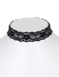 Fashion Black Lace Decorated Necklace