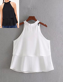Fashion White Off-the-shoulder Shape Decorated Blouse