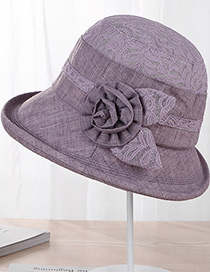 Fashion Purple Flower Shape Decorated Hat