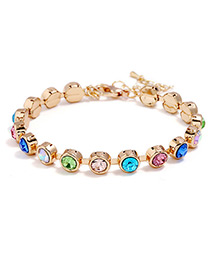 Fashion Multi-color Round Shape Decorated Bracelet