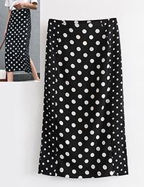 Fashion Black Sopt Shape Decorated Dress
