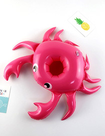 Fashion Plum Red Crab Shape Decorated Cup Holder