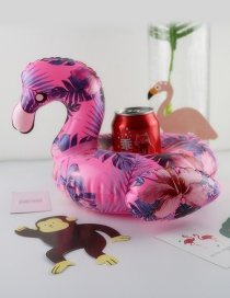 Fashion Pink Flamingo Shape Decorated Cup Holder
