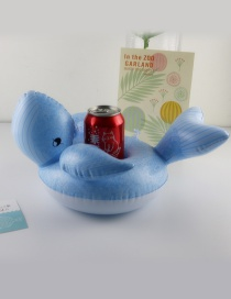Fashion Blue Whale Shape Decorated Cup Holder