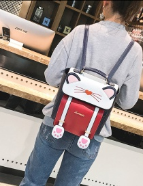 Fashion Navy Cat Shape Decorated Backpack
