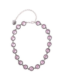 Fashion Pink Round Shape Decorated Necklace