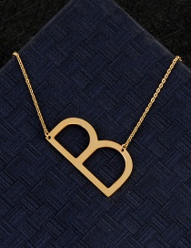 Fashion Gold Color B Letter Shape Decorated Necklace