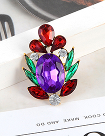 Fashion Multi-color Oval Shape Decorated Round Ring