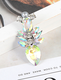 Fashion Multi-color Geometric Shape Design Waterdrop Ring