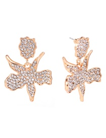 Fashion Gold Color Starfish Shape Decorated Earrings
