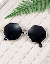 Fashion Black Geometry Shape Decorated Sunglass
