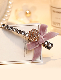 Fashion Pink Bowknot Shape Decorated Hair Clip
