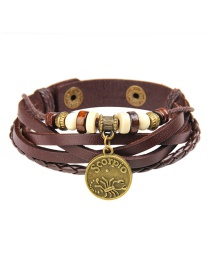 Fashion Brown Scorpion Pattern Decorated Bracelet