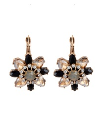 Fashion Champagne Flowers Shape Design Simple Earrings