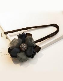 Lovely Navy Diamond&flower Decorated Hair Curler