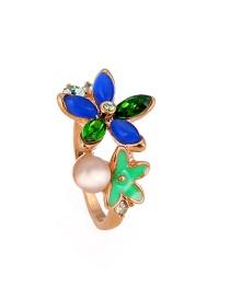 Fashion Multi-color Flower Shape Design Ring