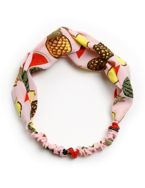 Lovely Pink Fruits Pattern Decorated Children's Hair Band
