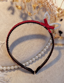 Lovely Claret Red Rabbit Ears&bowknot Decorated Hair Hoop