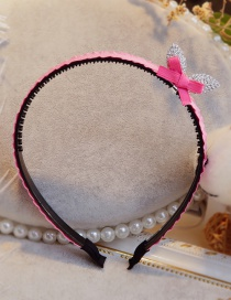Lovely Plum Red Rabbit Ears&bowknot Decorated Hair Hoop