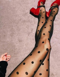 Fashion Black Dots Pattern Decorated Stockings