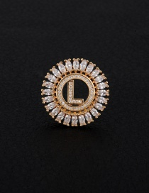 Fashion Gold Color Letter L Decorated Hollow Out Pendant(without Chain)