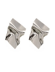 Fashion Silver Color Irregular Shape Design Pure Color Earrings