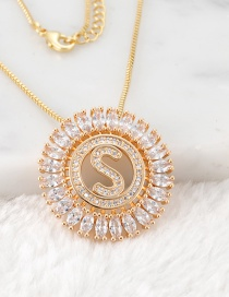 Fashion Gold Color S Letter Shape Decorated Necklace