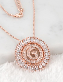 Fashion Rose Gold G Letter Shape Decorated Necklace