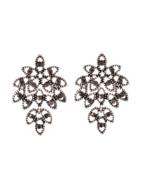 Fashion Silver Color Hollow Out Shape Design Leaf Earrings