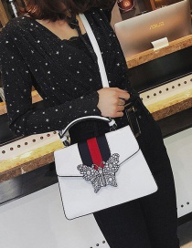 Fashion White Butterfly Shape Decorated Shoulder Bag