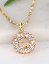 Fashion Gold Color Letter L Shape Decorated Necklace