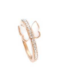Fashion Gold Color Butterfly Shape Decorated Ring