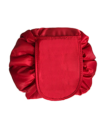 Fashion Red Pure Color Decorated Storage Bag