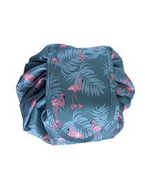 Fashion Pink+blue Flamingos Pattern Decorated Storage Bag