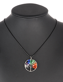 Fashion Multi-color Tree Shape Decorated Necklace