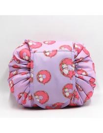 Fashion Purple Unicorn Pattern Decorated Storage Bag