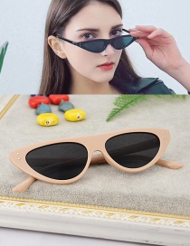 Fashion Apricot Cat Eyes Shape Design Simple Glasses