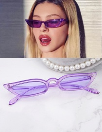 Fashion Purple Pure Color Design Simple Glasses