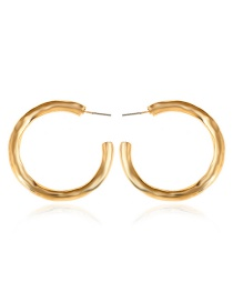 Elegant Gold Color C Shape Design Pure Color Earrings