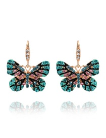 Elegant Green Butterfly Shape Design Earrings