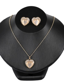 Fashion Gold Color Heart Shape Design Jewelry Sets