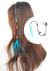 Fashion Multi-color Beads&feather Decorated Hair Accessories