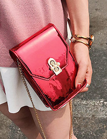 Fashion Red Pure Color Design Shoulder Bag