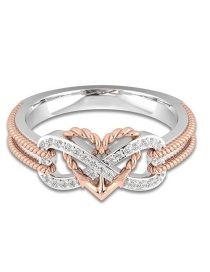 Fashion Gold Color Heart Shape Design Hollow Out Ring