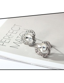 Fashion Silver Color Hollow Out Design Pure Color Earrings