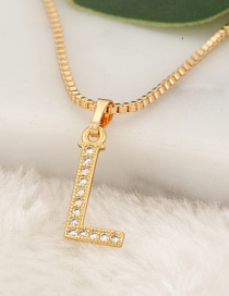 Fashion Gold Color Letter L Pendant Decorated Necklace