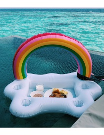 Trendy White Rainbow Shape Design Cup Holder