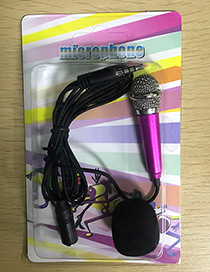 Fashion Silver Color+plum Red Color-matching Decorated Microphone(apply To Andrews&iphone)
